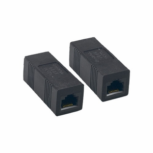 Brand New Straight Type Category 5e Cat 5e Inline Coupler (Black) - Click to enlarge