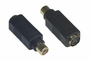 S-Video Female / RCA Female Adaptor - Click to enlarge