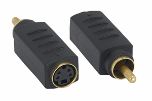 S-Video Female / RCA Plug Adaptor - Click to enlarge