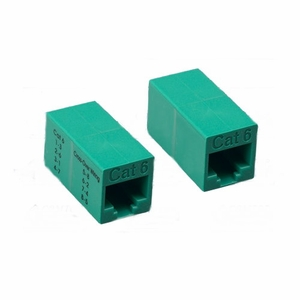 Brand New CrossOver Type Category 6 Cat 6 Inline Coupler (Green) - Click to enlarge