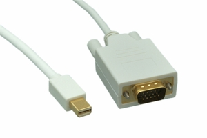 3 Feet 32 AWG Mini Display Port to VGA Cable - Click to enlarge