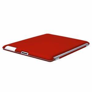 Red iPad 2 iPad 3 (The New iPad) Slim fit Case cover for Apple iPad 2nd 3rd Generation Wifi / 3G / 4G Model 16GB / 32GB / 64GB Smart cover compatible partner & color matching - Sticky Case by Techgiant - Click to enlarge