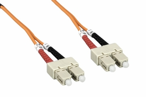 3m SC to SC Duplex 2 Strand Multi Mode Cable - Click to enlarge