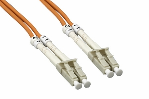 3m LC to LC Duplex 2 Strand Multi Mode Cable - Click to enlarge