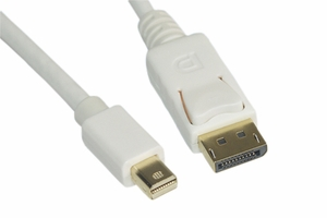 6 Feet 32 AWG Mini Display Port to Display Port Cable - Click to enlarge
