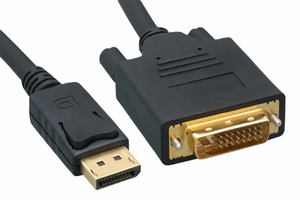3 Feet 28 AWG Display Port to DVI Cable - Click to enlarge