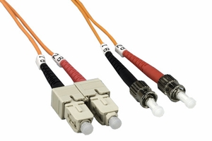 10m SC to ST Duplex 2 Strand Multi Mode Cable - Click to enlarge