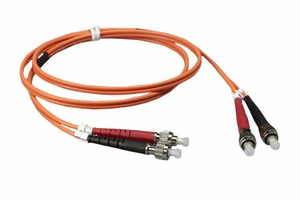 10m FC to FC Duplex 2 Strand Multi Mode Cable - Click to enlarge
