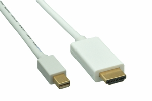 3 Feet 32 AWG Mini Display Port Cable to HDMI Cable - Click to enlarge