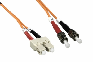 3m SC to ST Duplex 2 Strand Multi Mode Cable - Click to enlarge