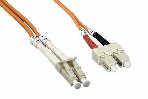 2m LC to SC Duplex 2 Strand Multi Mode Cable - Click to enlarge
