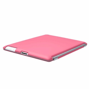 Pink iPad 2 iPad 3 (The New iPad) Slim fit Case cover for Apple iPad 2nd 3rd Generation Wifi / 3G / 4G Model 16GB / 32GB / 64GB Smart cover compatible partner & color matching - Sticky Case by Techgiant - Click to enlarge