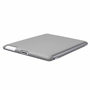 Gray iPad 2 iPad 3 (The New iPad) Slim fit Case cover for Apple iPad 2nd 3rd Generation Wifi / 3G / 4G Model 16GB / 32GB / 64GB Smart cover compatible partner & color matching - Sticky Case by Techgiant - Click to enlarge