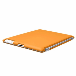 Orange iPad 2 iPad 3 (The New iPad) Slim fit Case cover for Apple iPad 2nd 3rd Generation Wifi / 3G / 4G Model 16GB / 32GB / 64GB Smart cover compatible partner & color matching - Sticky Case by Techgiant  - Click to enlarge