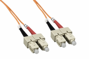 2m SC to SC Duplex 2 Strand Multi Mode Cable - Click to enlarge
