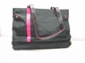 Brand New Designer Fashion Style Notebook Laptop HandBag / Tote bag ( Nylon/Pink/Black )