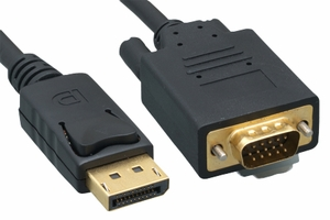 3 Feet 28 AWG Display Port to VGA Cable - Click to enlarge
