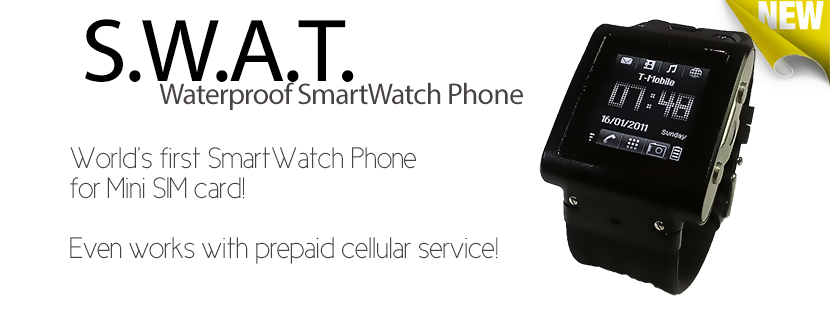 S.W.A.T. Waterproof SmartWatch Phone