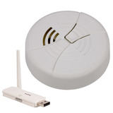 Digital Wireless Bottom View Smoke Detector w/ USB Receiver