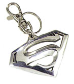 Superman Movie Logo Pewter Keychain  - Click to enlarge