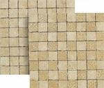 "Happy Floors Pietra Nobile Almond Mosaic 2"" x 2"" Matte"