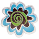 Turquoise Flower Key Finder from Finders Key Purse Collection