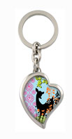 Crystallized Tranquil Field Heart Fob Key Chain