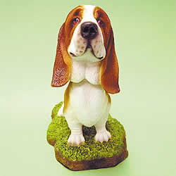 Basset Hound Bobblehead Dog by Swibco