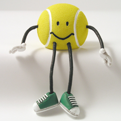 Critter Sitter Tennis Ball by Swibco
