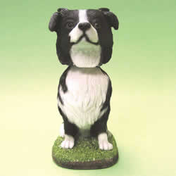 Border Collie Bobblehead Dog by Swibco