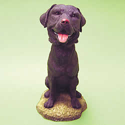 Black Labrador Bobblehead Dog by Swibco