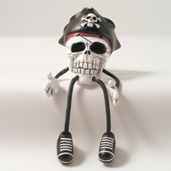 Critter Sitter Skull with Hat by Swibco