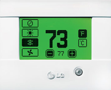 LG Ptac PYRCUCC0A Wireless Wall Thermostat