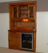 Classic Pine Built In Bar
