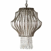 Nickel & Crystal Chandelier - Small