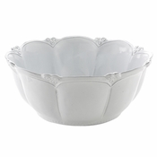 Arte Italica Bella Bianca Rosette Large Round Serving Bowl