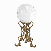 Glass Ball with Art Nouveau Stand