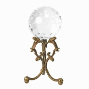 Glass Ball with Brass Stand