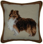 Collie Needlepoint Pillow