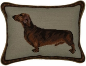 Dachshund Pillow - Brown