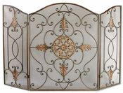 Iron & Gold Fireplace Screen