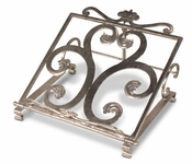 Polished Iron Book Stand