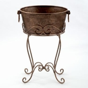 ANTQ COPPER PARTY TUB ON STAND