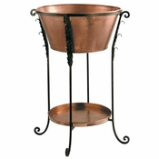 Copper Bucket & Stand