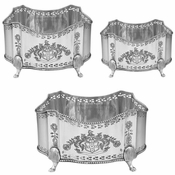 Antique Silverplate Planter Set
