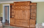 Custom Pine Entertainment Center
