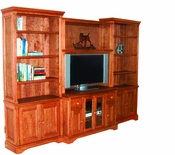 Custom Pine Entertainment Center - Narrow