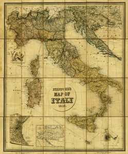 Antique Reproduction Map of Italy