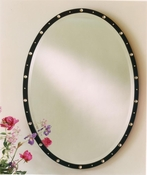 Oval Crystal Studded Mirror - SAVE 50%