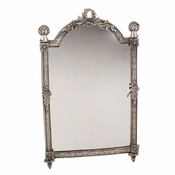 Dresser Mirror Antique Silver